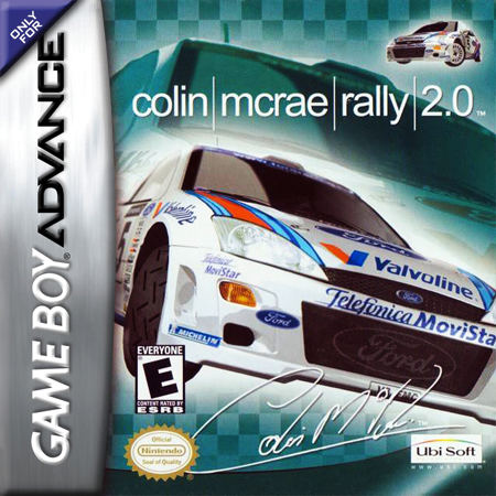 Colin McRae Rally 2.0 Nintendo Game Boy Advance cover artwork