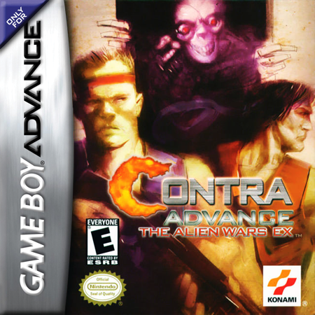 Contra Advance - The Alien Wars EX Nintendo Game Boy Advance cover artwork