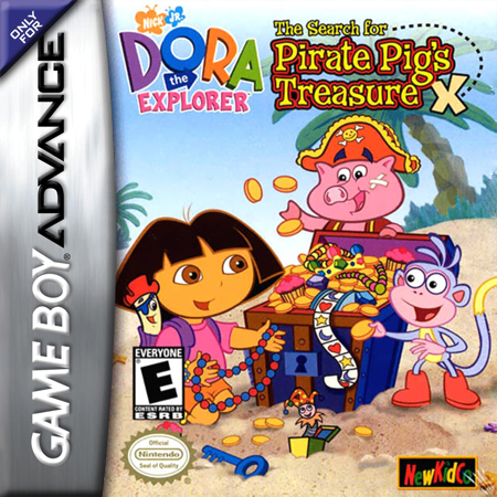 Dora the Explorer - The Search for the Pirate Pig's Treasure Nintendo Game Boy Advance cover artwork