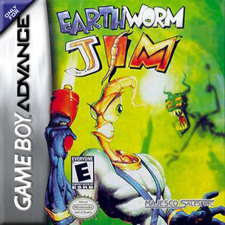 Earthworm Jim Nintendo Game Boy Advance cover artwork