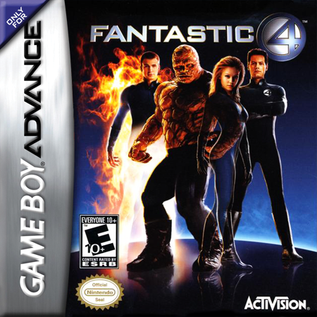 Fantastic 4 Nintendo Game Boy Advance cover artwork