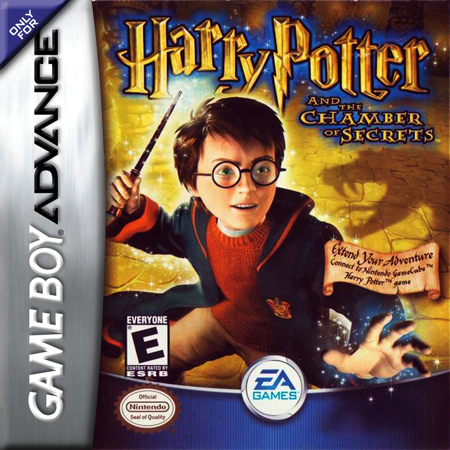 Harry Potter and the Chamber of Secrets Nintendo Game Boy Advance cover artwork