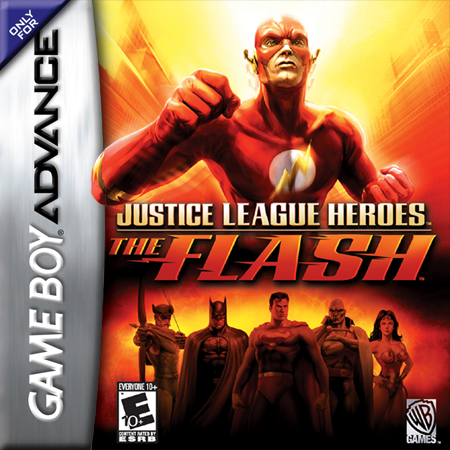 Justice League Heroes - The Flash Nintendo Game Boy Advance cover artwork