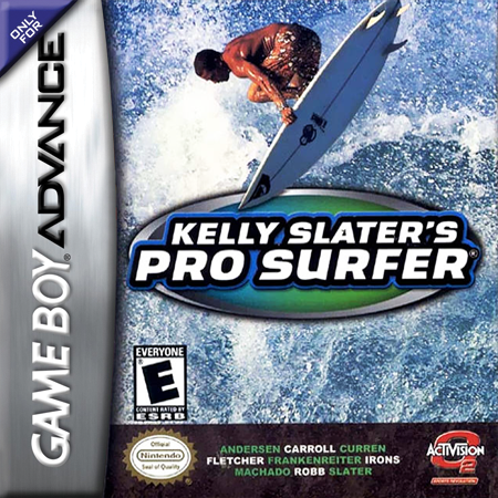 Kelly Slater's Pro Surfer Nintendo Game Boy Advance cover artwork