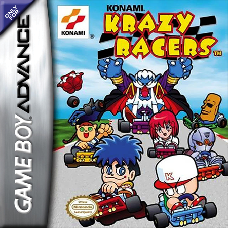 Konami Krazy Racers Nintendo Game Boy Advance cover artwork