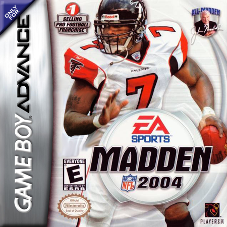 Madden NFL 2004 Nintendo Game Boy Advance cover artwork