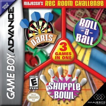 Majesco's Rec Room Challenge Nintendo Game Boy Advance cover artwork