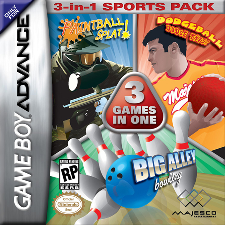 Majesco's Sports Pack Nintendo Game Boy Advance cover artwork