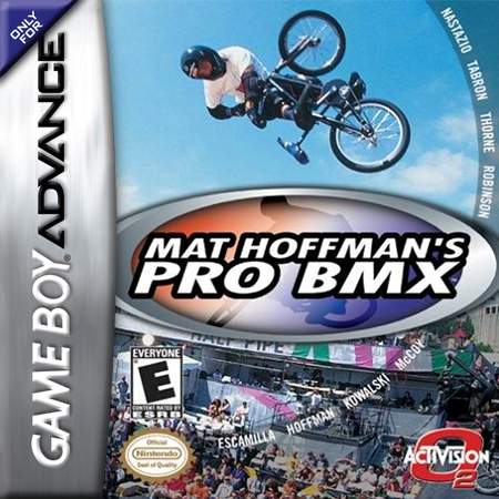 Mat Hoffman's Pro BMX Nintendo Game Boy Advance cover artwork