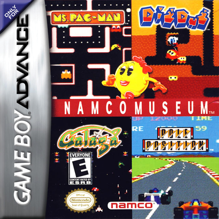 Namco Museum Nintendo Game Boy Advance cover artwork