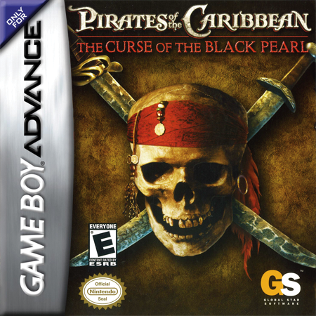 Pirates of the Caribbean - The Curse of the Black Pearl Nintendo Game Boy Advance cover artwork