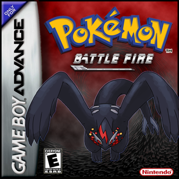 Pokemon BattleFire Version Nintendo Game Boy Advance cover artwork