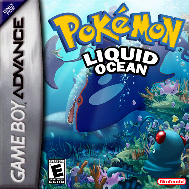 Pokemon Liquid Ocean Nintendo Game Boy Advance cover artwork