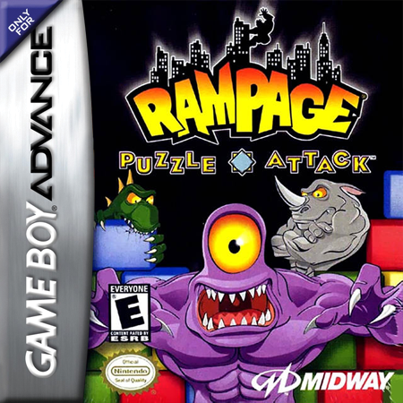 Rampage - Puzzle Attack Nintendo Game Boy Advance cover artwork
