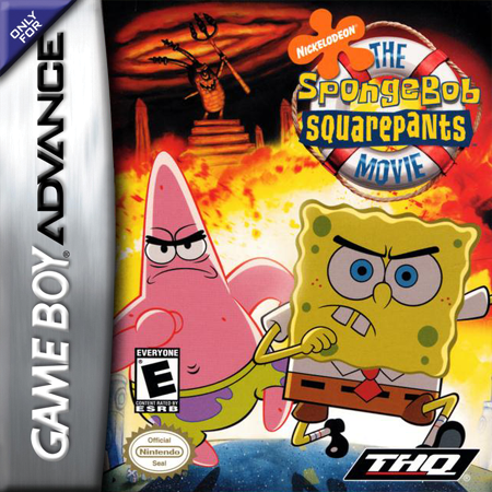 SpongeBob SquarePants Movie, The Nintendo Game Boy Advance cover artwork