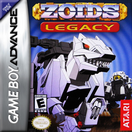 Zoids Legacy Nintendo Game Boy Advance cover artwork