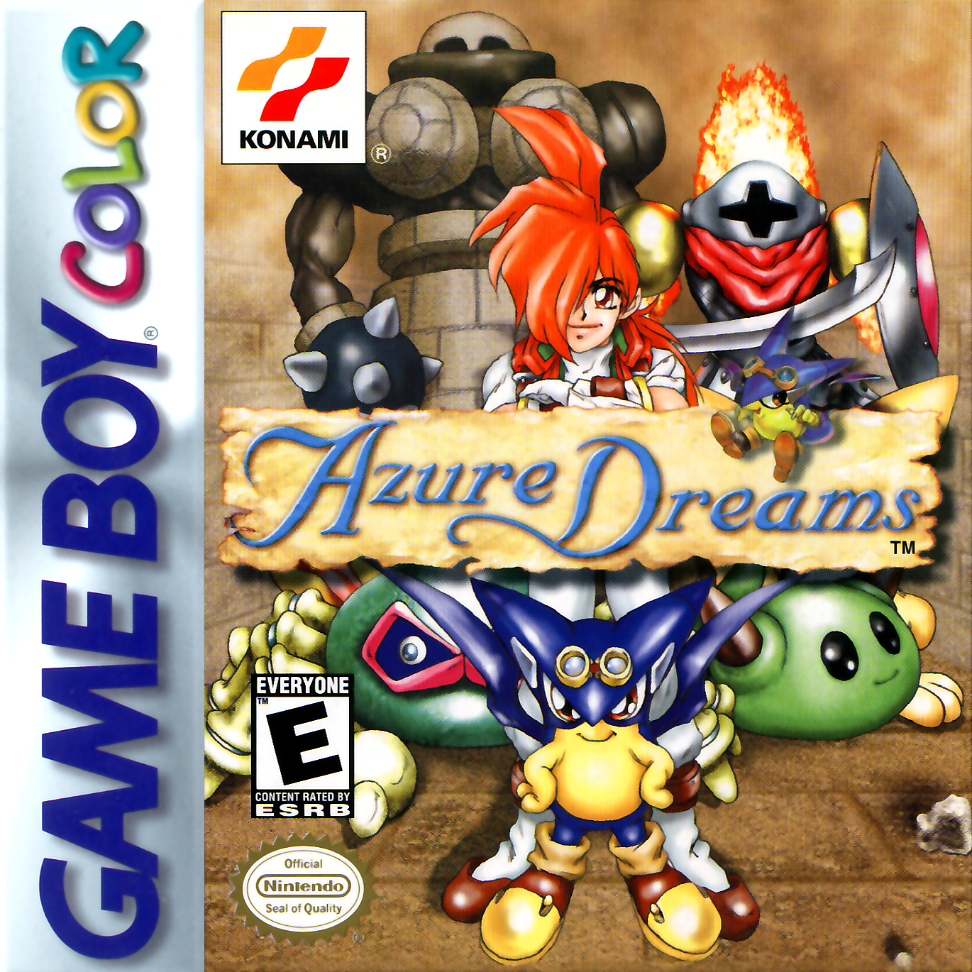 Color online games - Azure Dreams Nintendo Game Boy Color Cover Artwork