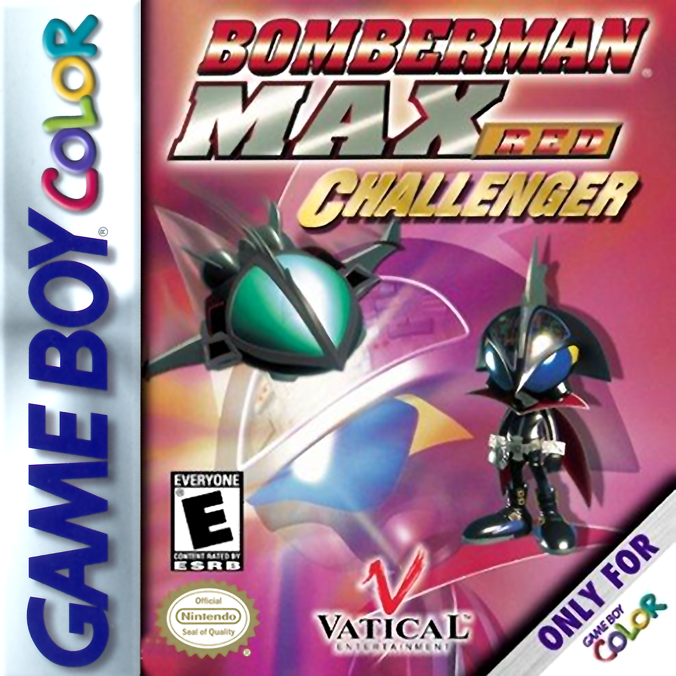 Game boy color online games - Bomberman Max Red Challenger Nintendo Game Boy Color Cover Artwork