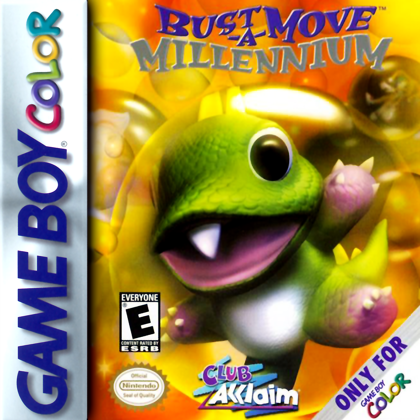 Game boy color online games - Bust A Move Millennium Nintendo Game Boy Color Cover Artwork