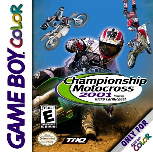 Championship Motocross 2001 featuring Ricky Carmichael Nintendo Game Boy Color cover artwork