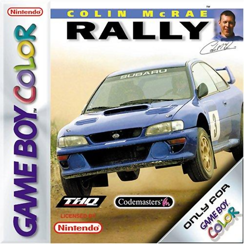 Colin McRae Rally Nintendo Game Boy Color cover artwork