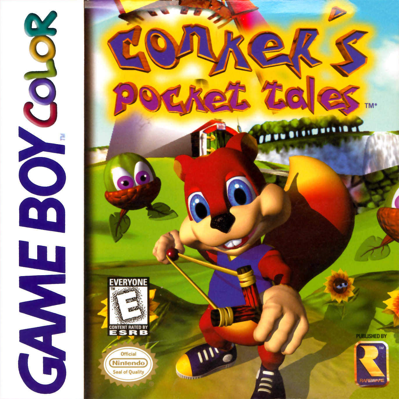 Color online games - Conker 039 S Pocket Tales Nintendo Game Boy Color Cover Artwork