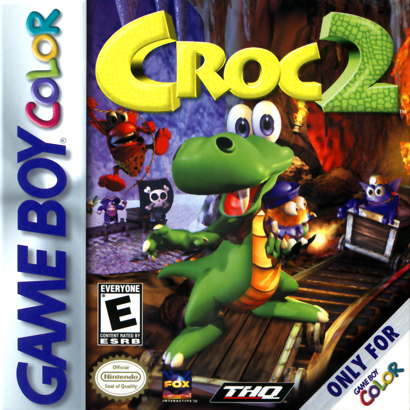 Game boy color online games - Croc 2 Nintendo Game Boy Color Cover Artwork