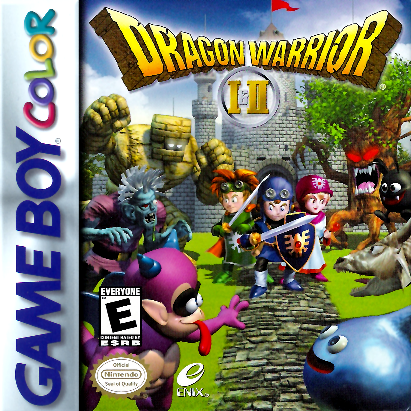 Dragon Warrior I & II Nintendo Game Boy Color cover artwork