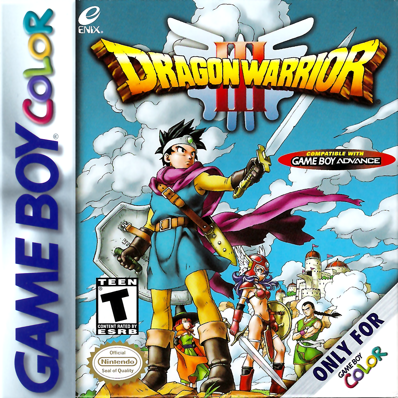 Game boy color online games - Dragon Warrior Iii Nintendo Game Boy Color Cover Artwork
