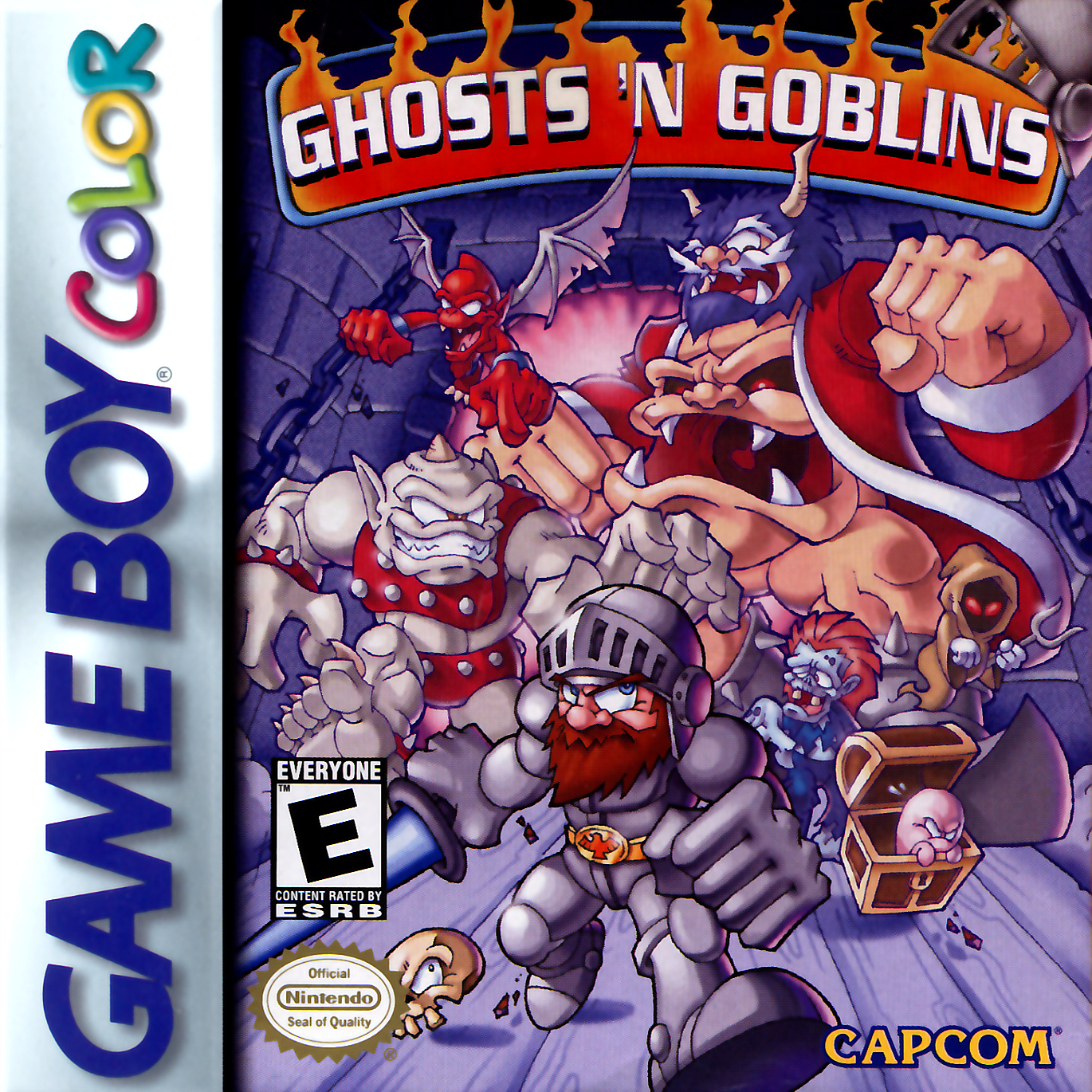 Ghosts'n Goblins Nintendo Game Boy Color cover artwork