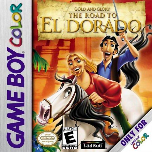 Gold and Glory - The Road to El Dorado Nintendo Game Boy Color cover artwork