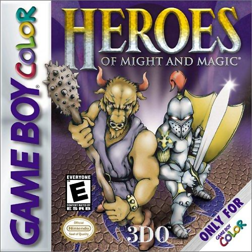 Heroes of Might and Magic Nintendo Game Boy Color cover artwork