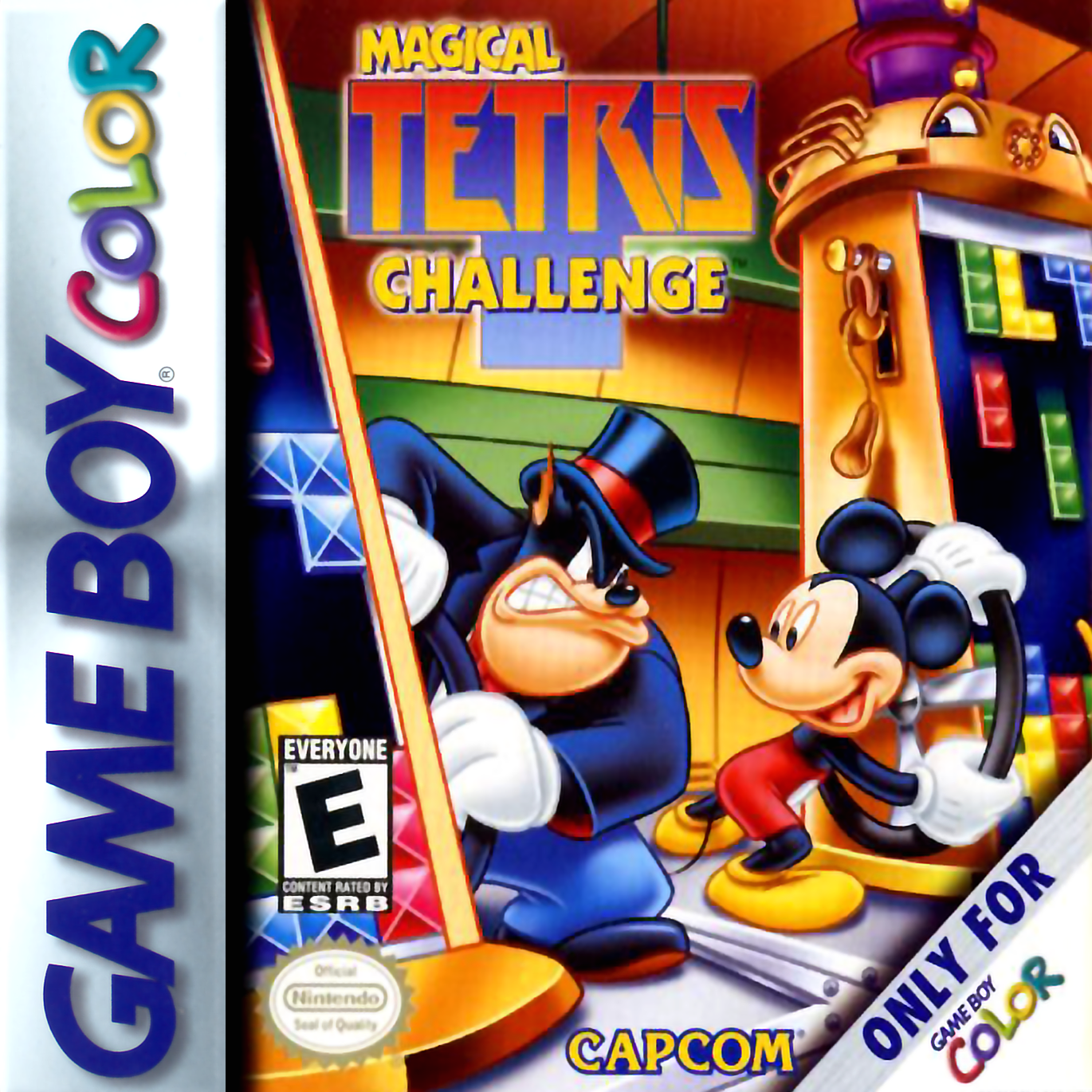 Game boy color online games - Magical Tetris Challenge Nintendo Game Boy Color Cover Artwork