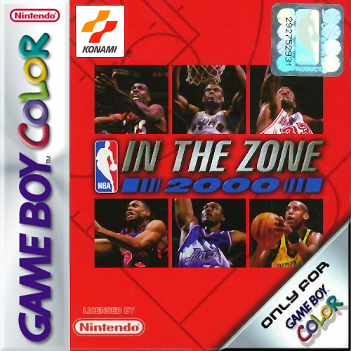 NBA In the Zone 2000 Nintendo Game Boy Color cover artwork
