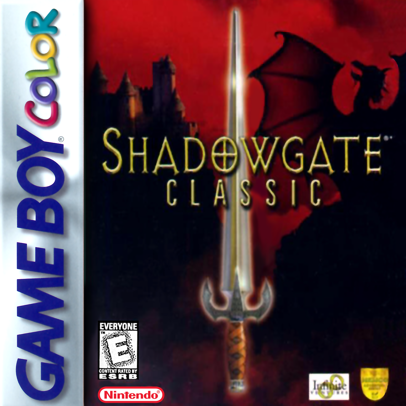 Shadowgate Classic Nintendo Game Boy Color cover artwork