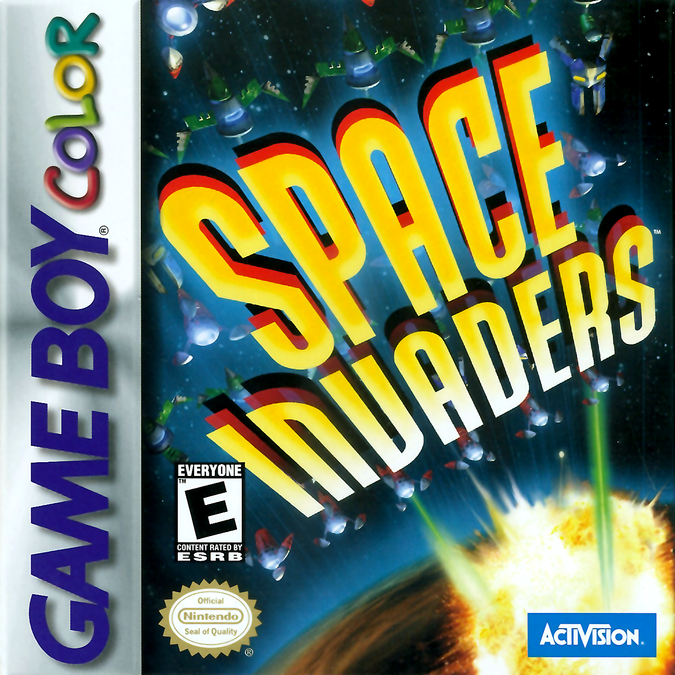 Space Invaders Nintendo Game Boy Color cover artwork