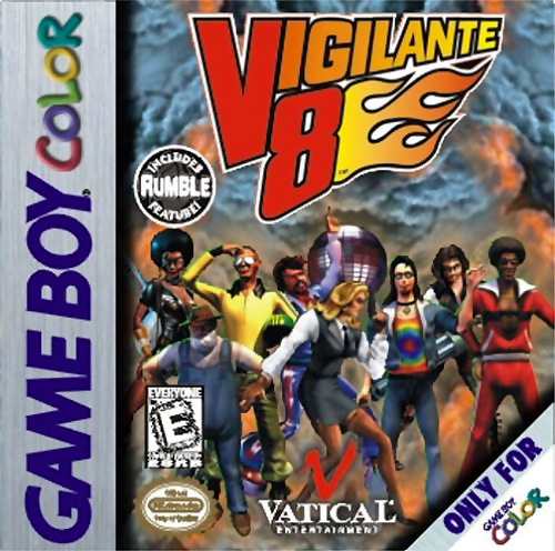 Vigilante 8 Nintendo Game Boy Color cover artwork
