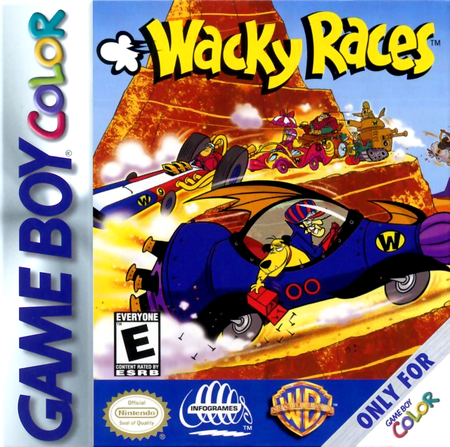 Wacky Races Nintendo Game Boy Color cover artwork