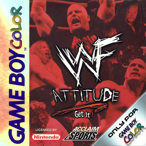WWF Attitude Nintendo Game Boy Color cover artwork