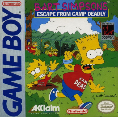 Bart Simpson's Escape from Camp Deadly Nintendo Game Boy cover artwork