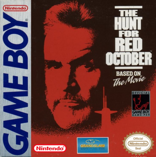 Hunt for Red October, The Nintendo Game Boy cover artwork