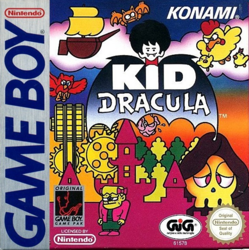 Kid Dracula Nintendo Game Boy cover artwork