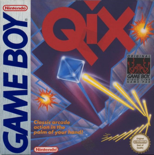 Qix Nintendo Game Boy cover artwork