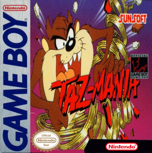 Taz-Mania Nintendo Game Boy cover artwork