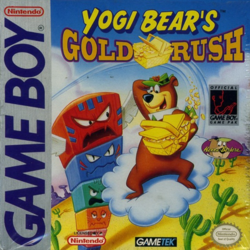 Yogi Bear in Yogi Bear's Goldrush Nintendo Game Boy cover artwork
