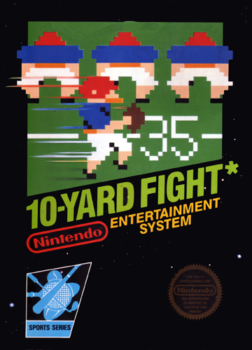 10-Yard Fight Nintendo NES cover artwork