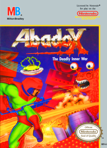 Abadox - The Deadly Inner War Nintendo NES cover artwork