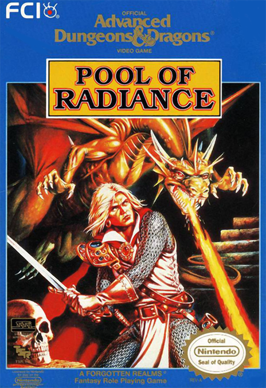 Advanced Dungeons & Dragons - Pool of Radiance Nintendo NES cover artwork