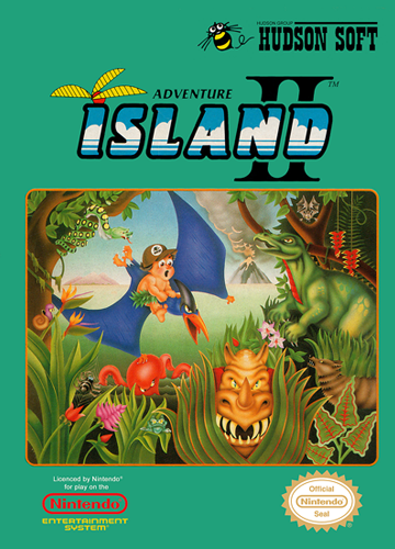 Adventure Island II Nintendo NES cover artwork