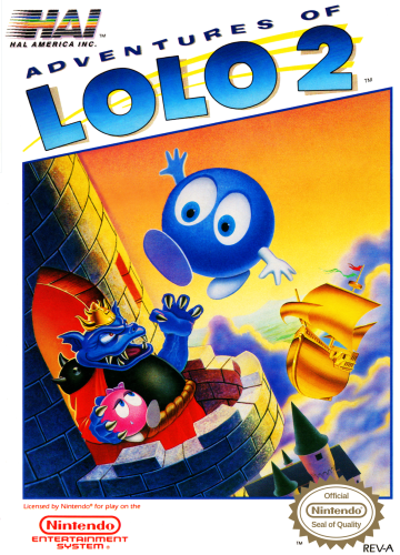 Adventures of Lolo 2 Nintendo NES cover artwork
